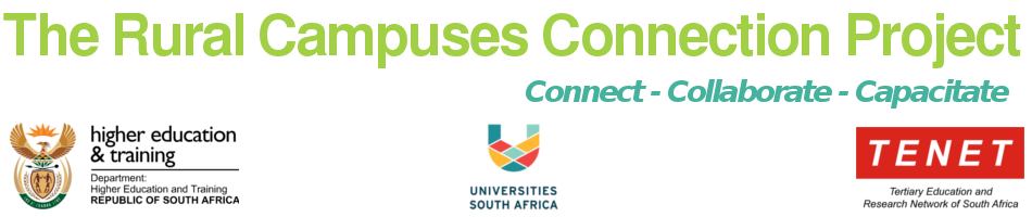 The Rural Campus Connectivity Project 2018 – Connect. Collaborate. Capacitate.